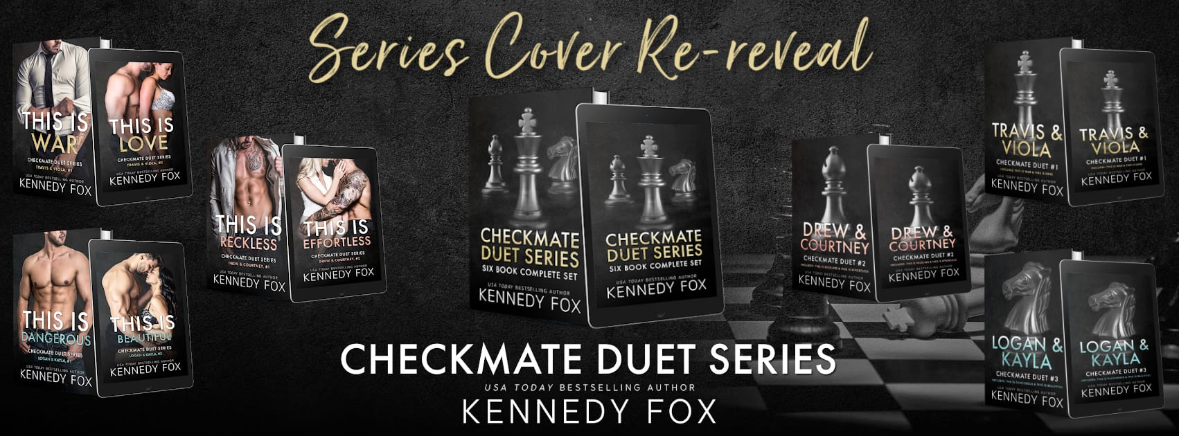 Cover Re-reveal for The Checkmate Duet Series by Kennedy Fox
